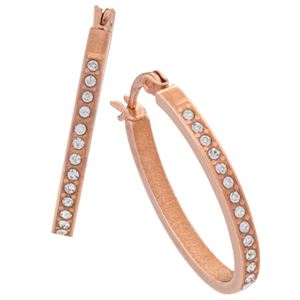 Picture of Crystal Hoops Rose Gold